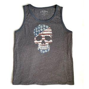 Lucky Brand American Flag Skull Tank Top